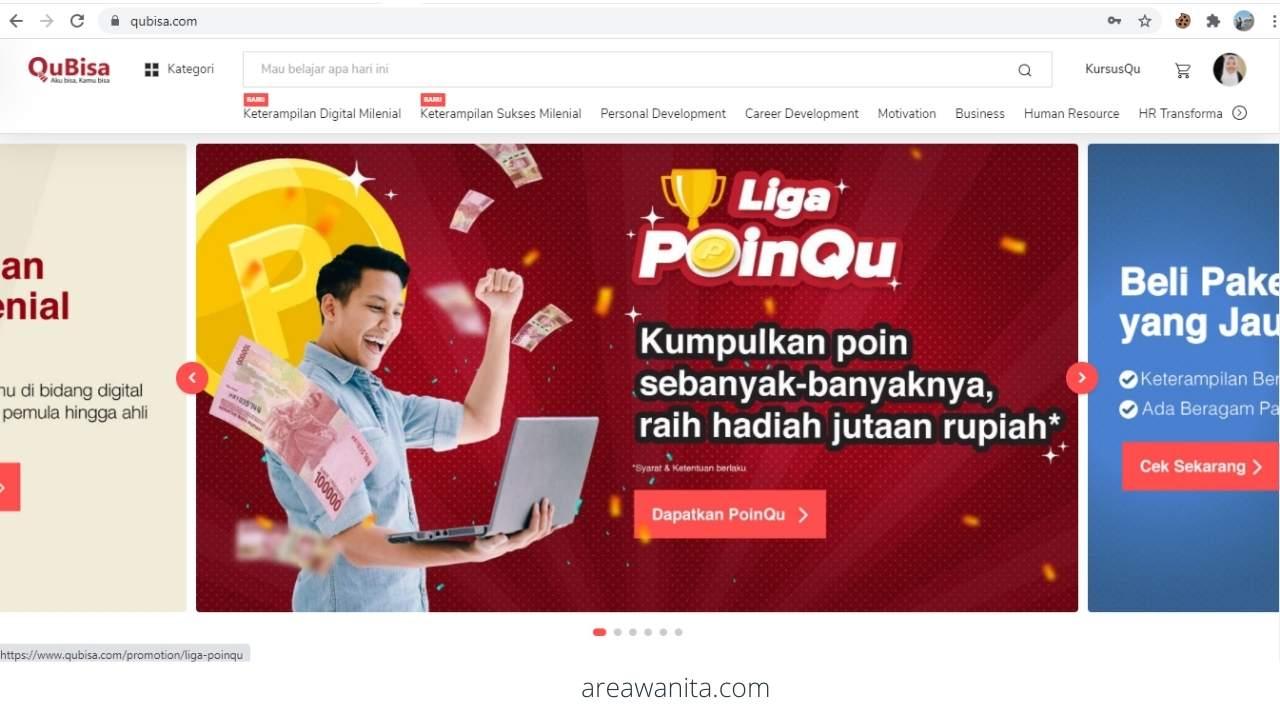 Platform belajar online Indonesia webinar QuBisa