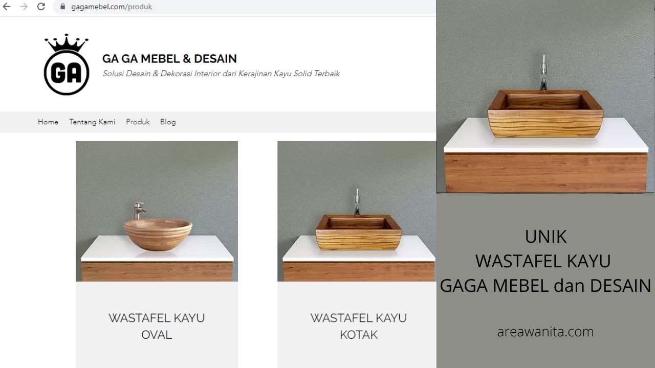 GAGA Mebel dan Desain Kerajinan Kayu Wastafel Unik